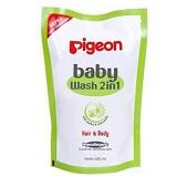 PIGEON Baby Wash Chamomile 600ml Refill [PR060403] - Sabun Mandi Bayi dan Anak